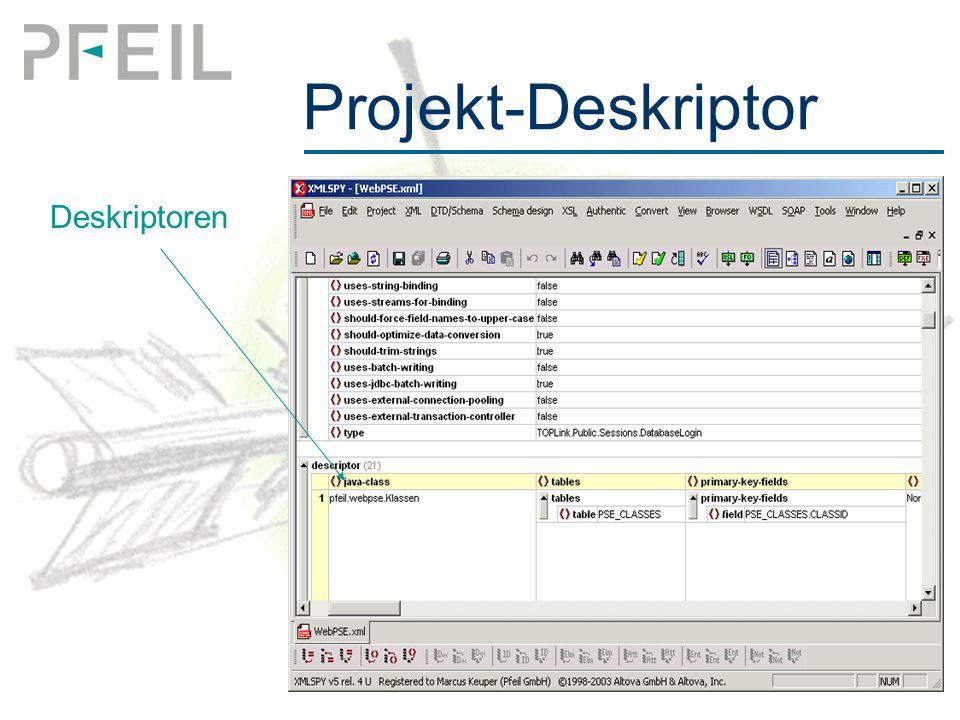 Projekt-Deskriptor Deskriptoren