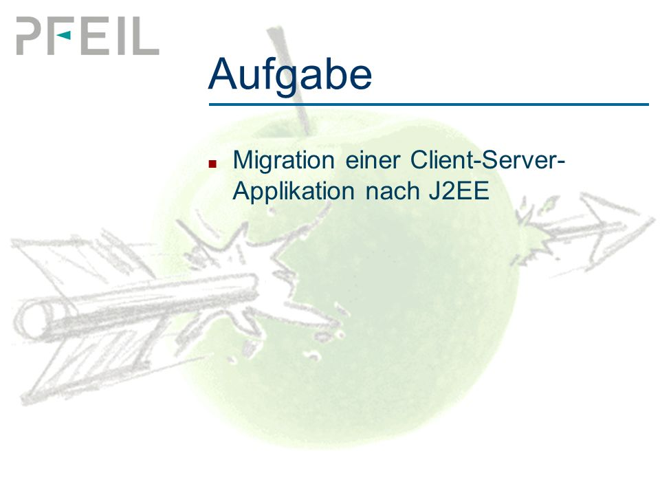 Aufgabe Migration einer Client-Server- Applikation nach J2EE