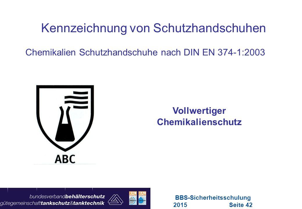 Maschinen in Europa Vorschriften-Übersicht für Maschinen Kennzeichnung von Schutzhandschuhen Chemikalien Schutzhandschuhe nach DIN EN 374-1:2003 Vollw