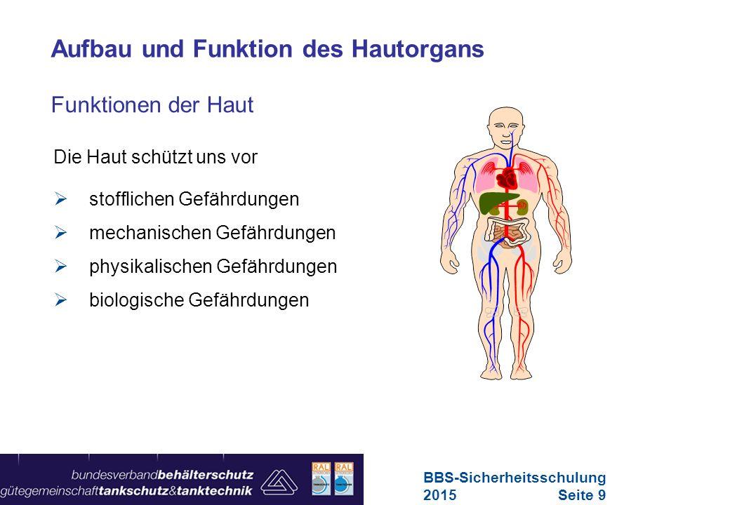 Maschinen in Europa Vorschriften-Übersicht für Maschinen Hautgefährdungen BBS-Sicherheitsschulung 2015Seite 10