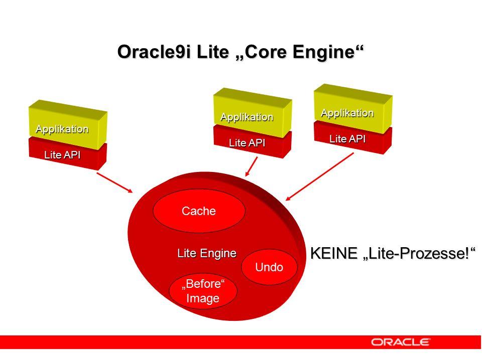 "Oracle9i Lite ""Core Engine Object Kernel API Java Procedures und Trigger ODBCADO.NET JDBC SQL Layer"