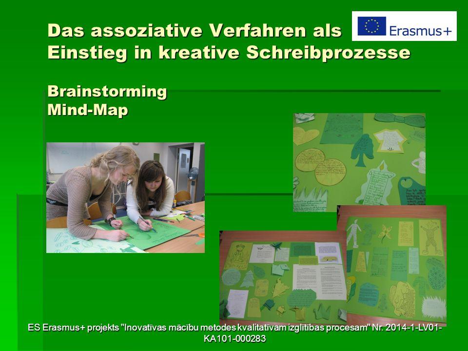 Das assoziative Verfahren als Einstieg in kreative Schreibprozesse Brainstorming Mind-Map ES Erasmus+ projekts