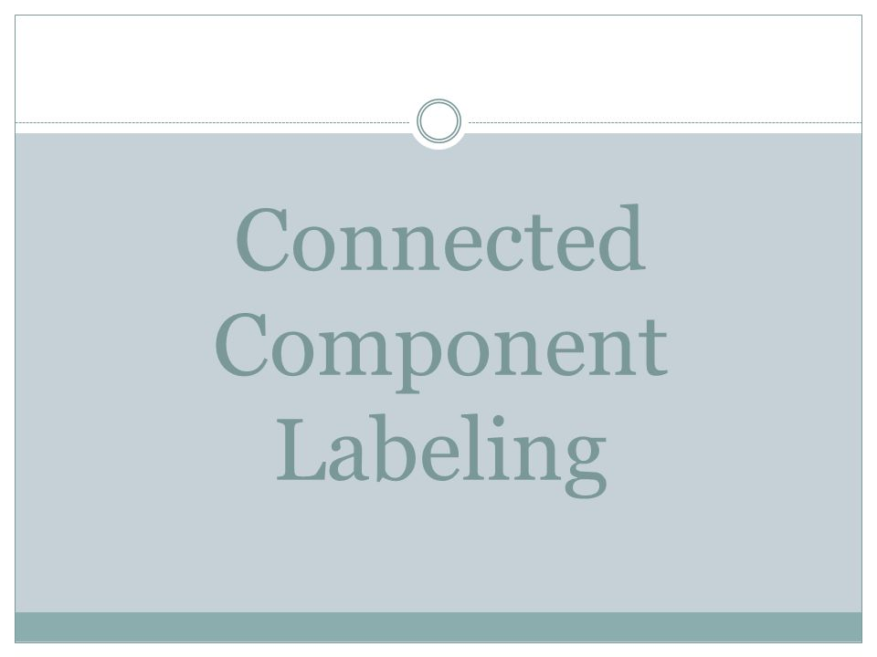 Connected Component Labeling
