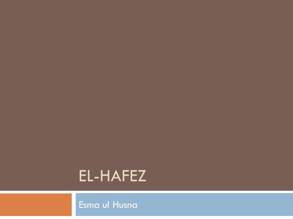 EL-HAFEZ Esma ul Husna