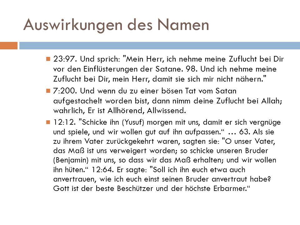 Auswirkungen des Namen 23:97.