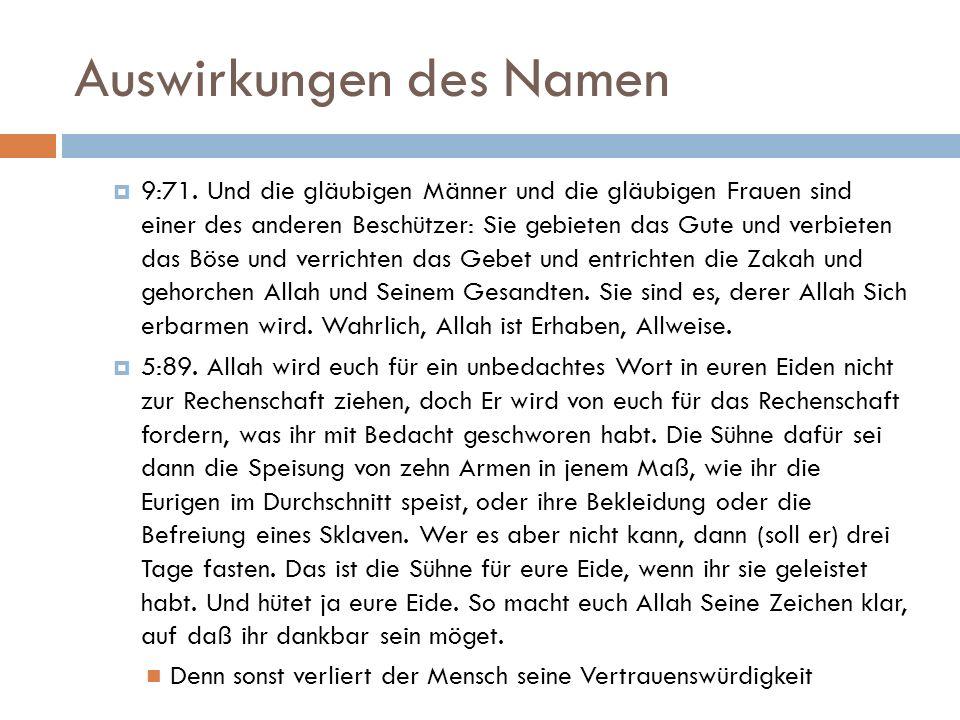 Auswirkungen des Namen  9:71.