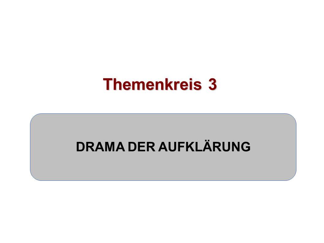 Themenkreis 3 DRAMA DER AUFKLÄRUNG