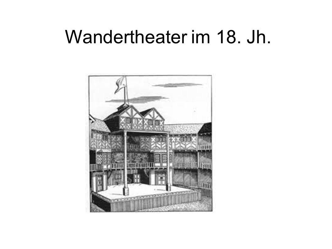 Wandertheater im 18. Jh.