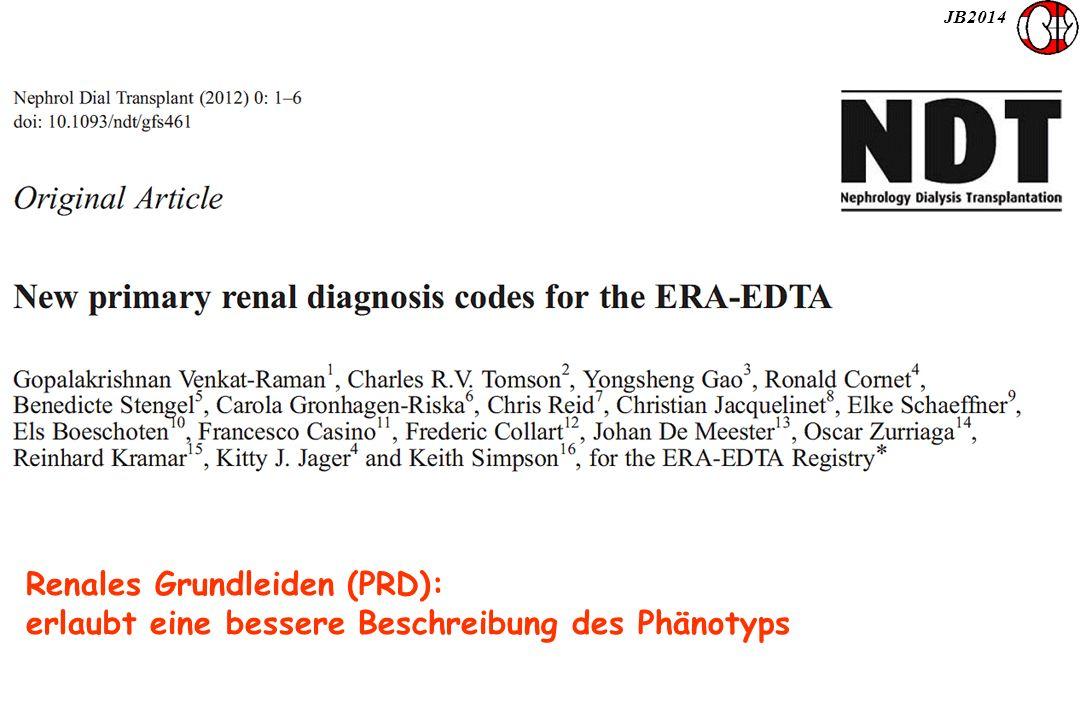 JB2014 Renales Grundleiden (PRD): erlaubt eine bessere Beschreibung des Phänotyps