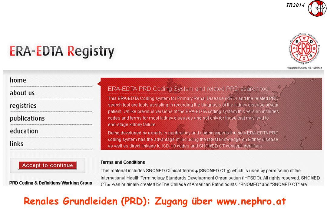 JB2014 Renales Grundleiden (PRD): Zugang über www.nephro.at