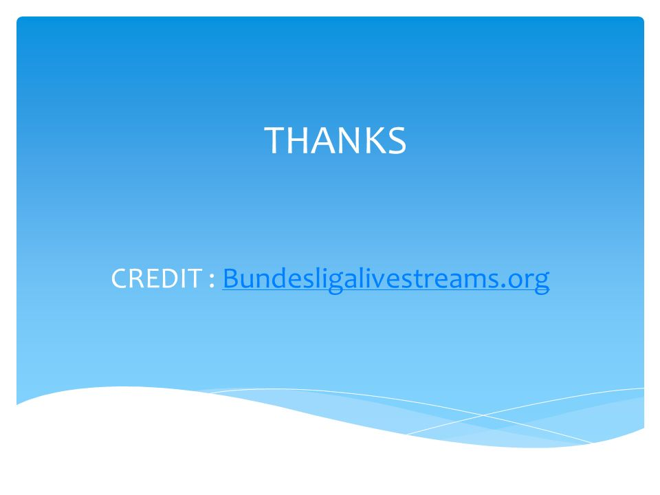 THANKS CREDIT : Bundesligalivestreams.orgBundesligalivestreams.org