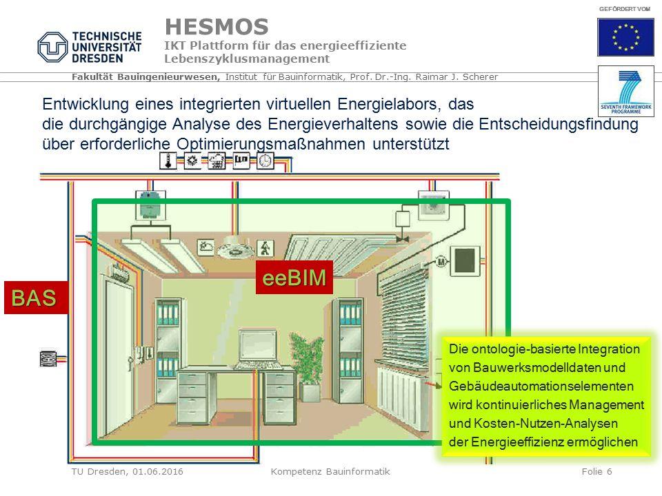 Fakultät Bauingenieurwesen, Institut für Bauinformatik, Prof.