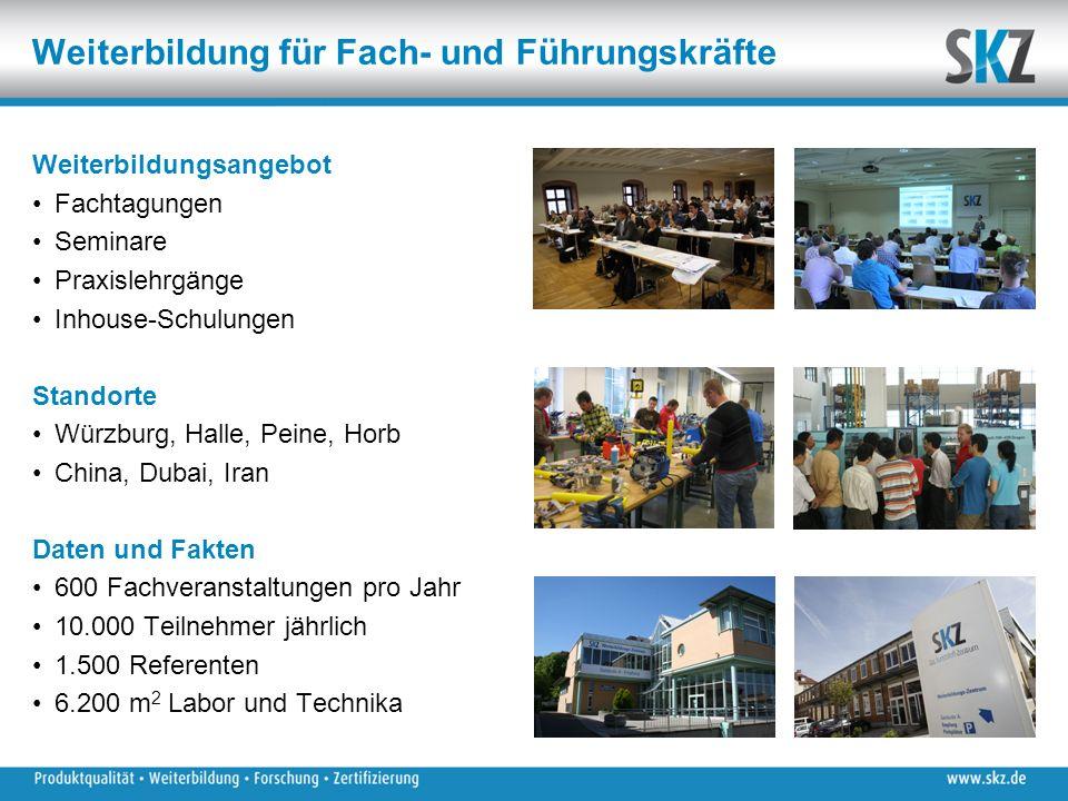 Weiterbildung für Fach- und Führungskräfte Weiterbildungsangebot Fachtagungen Seminare Praxislehrgänge Inhouse-Schulungen Standorte Würzburg, Halle, P