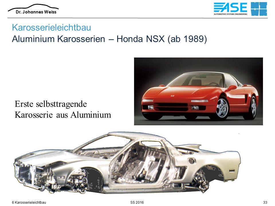 SS 20166 Karosserieleichtbau33 Erste selbsttragende Karosserie aus Aluminium Karosserieleichtbau Aluminium Karosserien – Honda NSX (ab 1989)