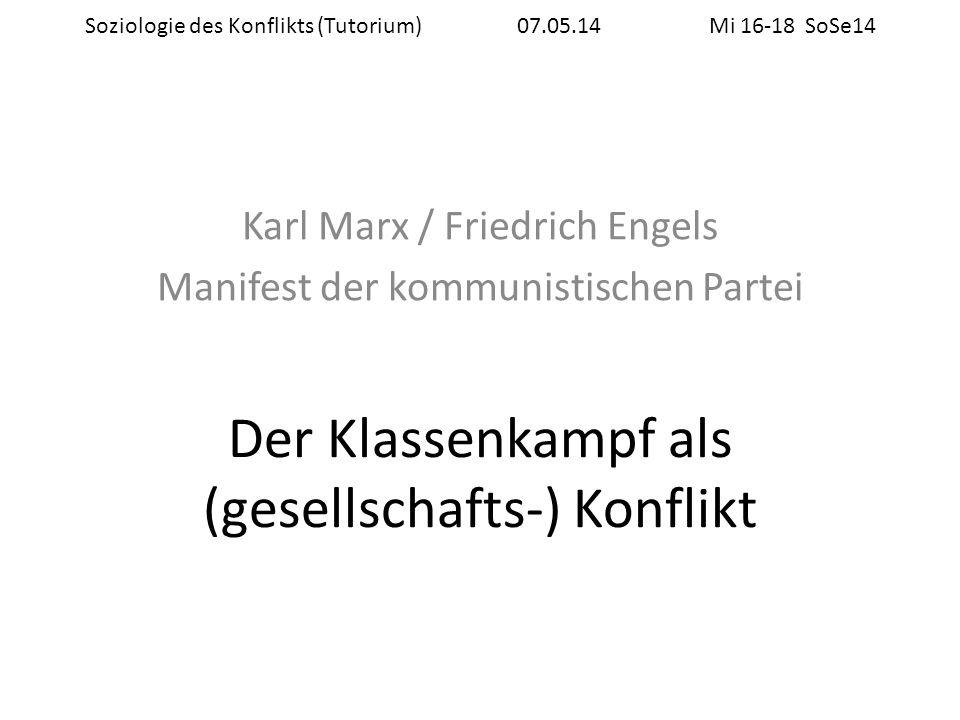 Biographische Eckdaten Marx (1818-1883) Studium Rechtswissenschaft / Philosophie / Geschichte Keine wissenschaftl.
