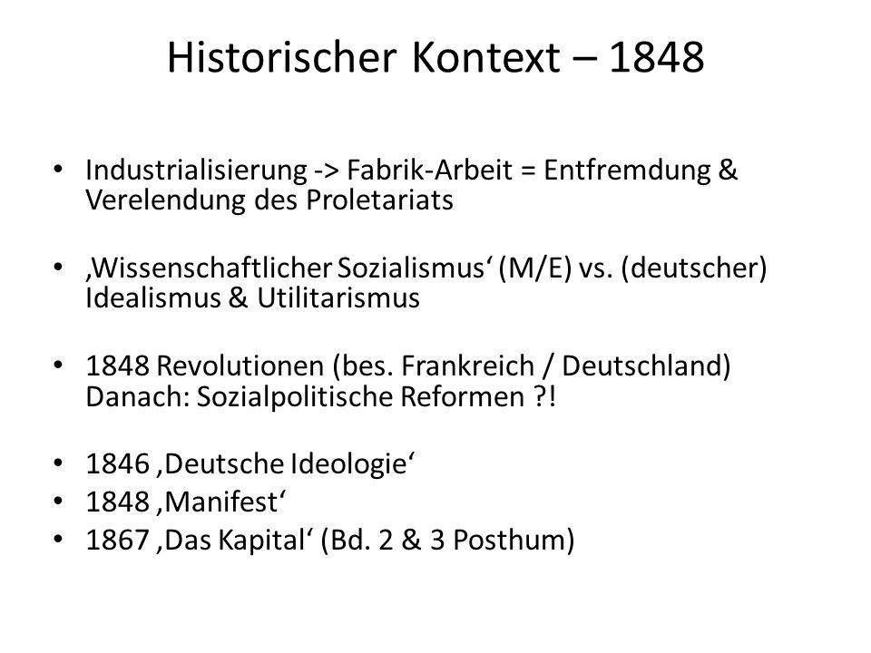 Allgemeine Grundbegriffe Klassen: Bourgeoisie vs.