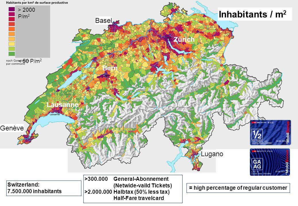 © SBB Passenger Traffic P-FV-SA 04.09.20072 Basel Zürich Bern Roadtransport P / year