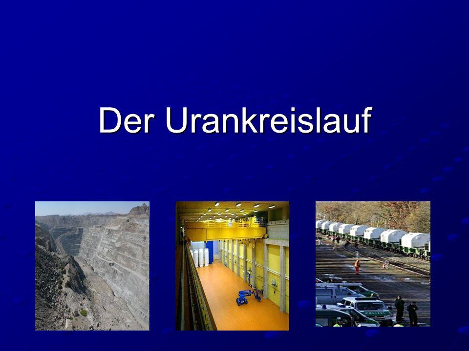 Damit aus Uran elektrische Energie gewonnen werden kann, sind viele Stationen notwendig.