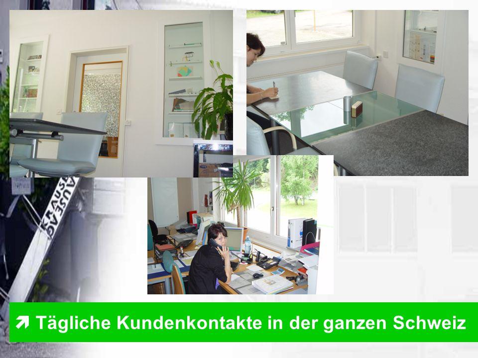  Tägliche Kundenkontakte in der ganzen Schweiz