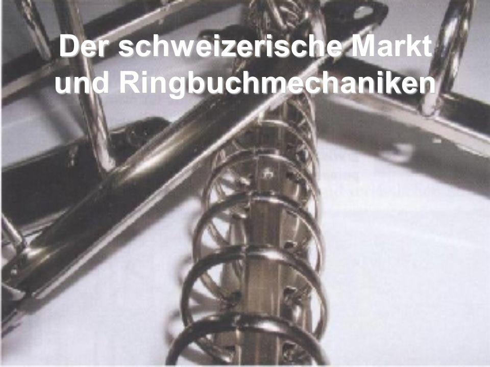 Der schweizerische Markt und Ringbuchmechaniken