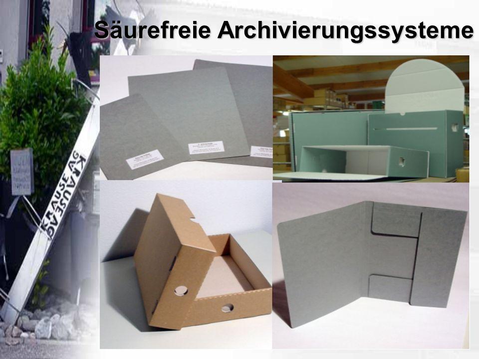 Säurefreie Archivierungssysteme