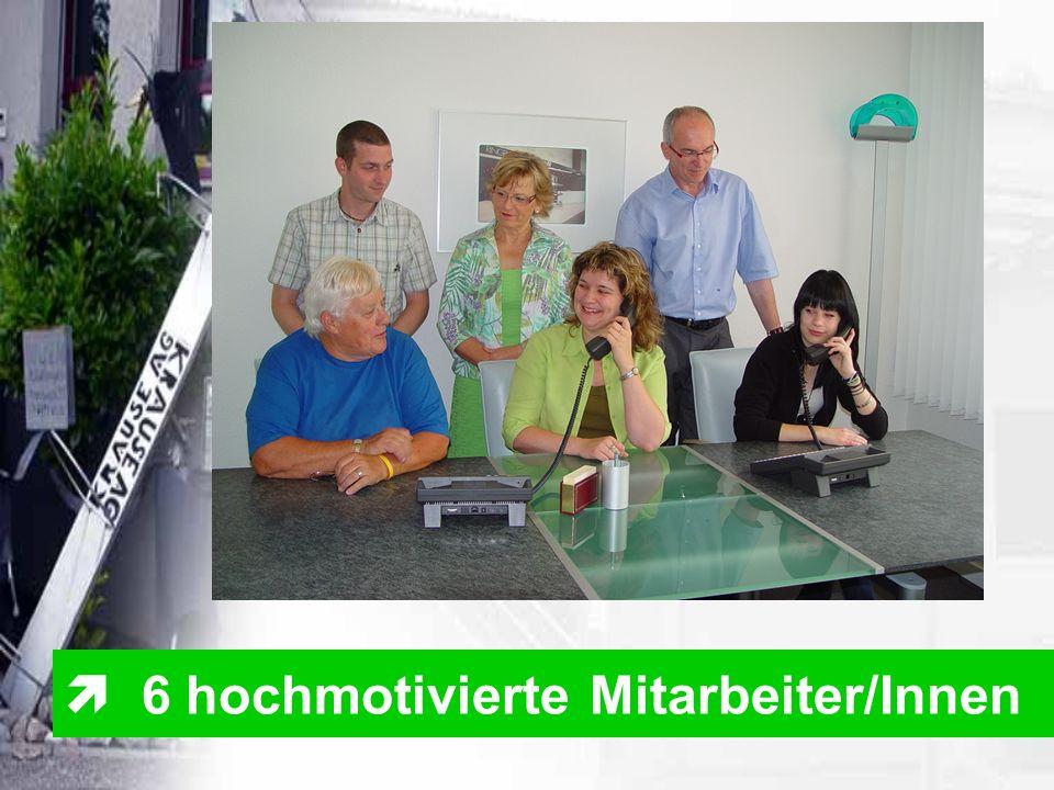  6 hochmotivierte Mitarbeiter/Innen