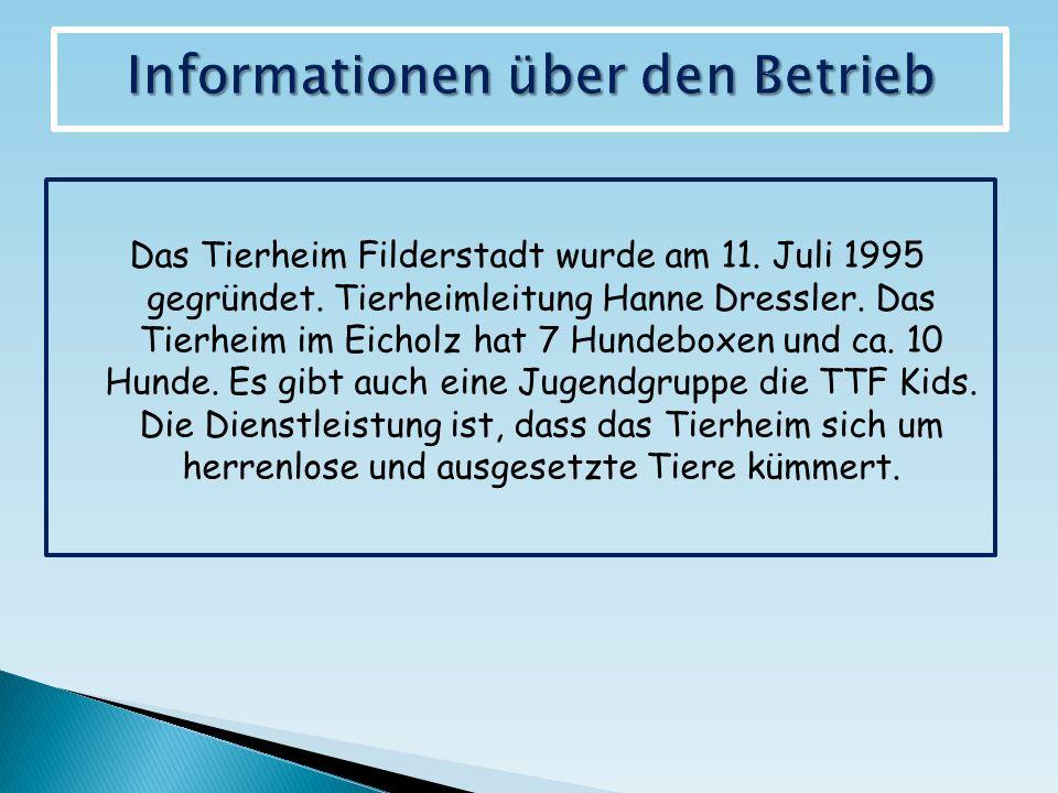 Das Tierheim Filderstadt wurde am 11. Juli 1995 gegründet.