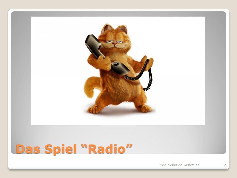 Das Spiel Radio 2Моё любимое животное