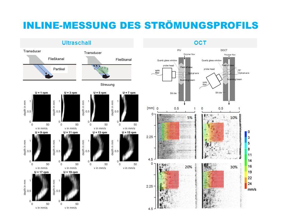 INLINE-MESSUNG DES STRÖMUNGSPROFILS UltraschallOCT