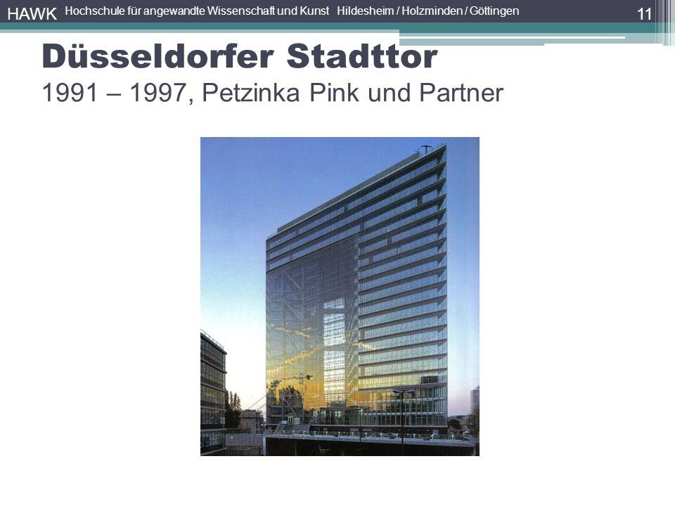 Düsseldorfer Stadttor 1991 – 1997, Petzinka Pink und Partner 11 HAWK Hochschule für angewandte Wissenschaft und Kunst Hildesheim / Holzminden / Göttingen