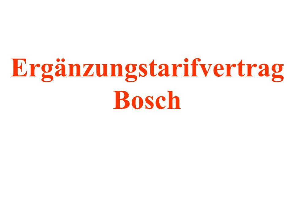 Ergänzungstarifvertrag Bosch