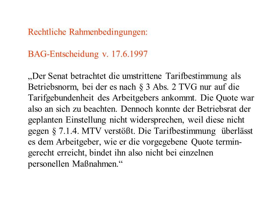 Rechtliche Rahmenbedingungen: BAG-Entscheidung v.