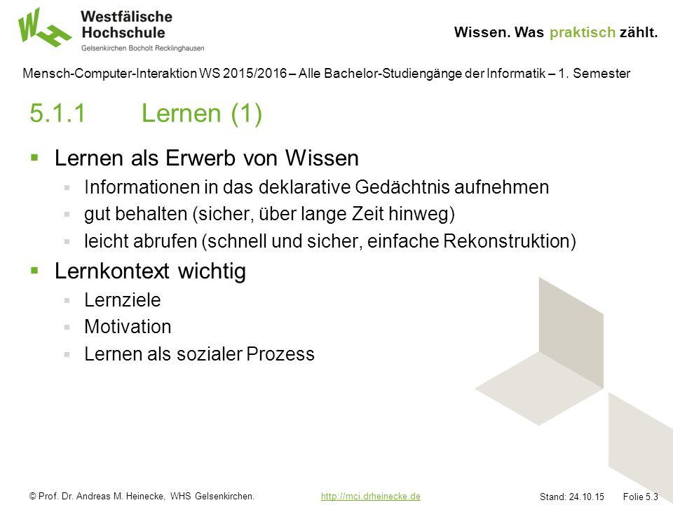 © Prof.Dr. Andreas M. Heinecke, WHS Gelsenkirchen.