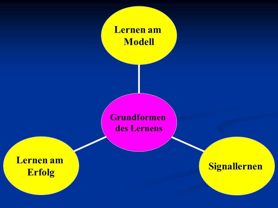 Grundformen des Lernens Lernen am Modell Signallernen Lernen am Erfolg