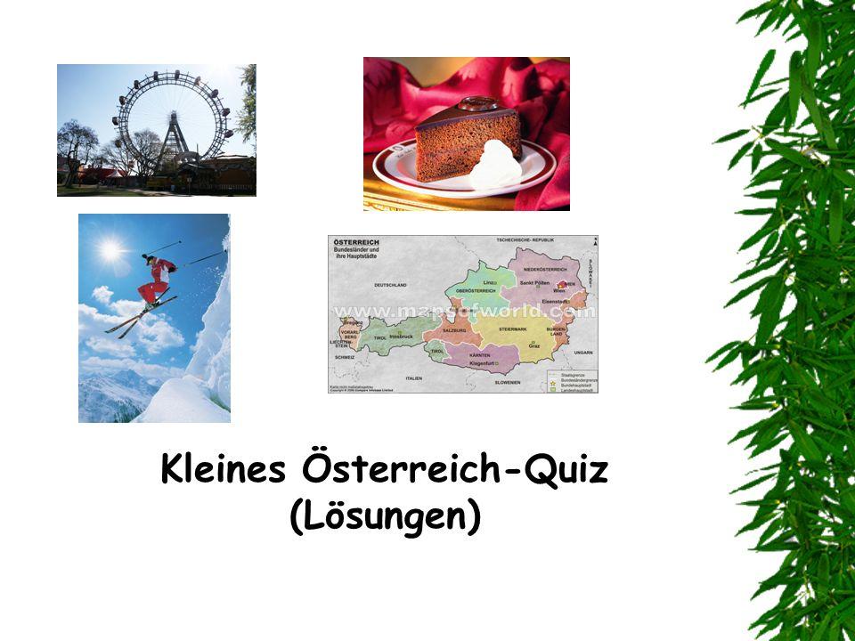 Kleines Österreich-Quiz (Lösungen)