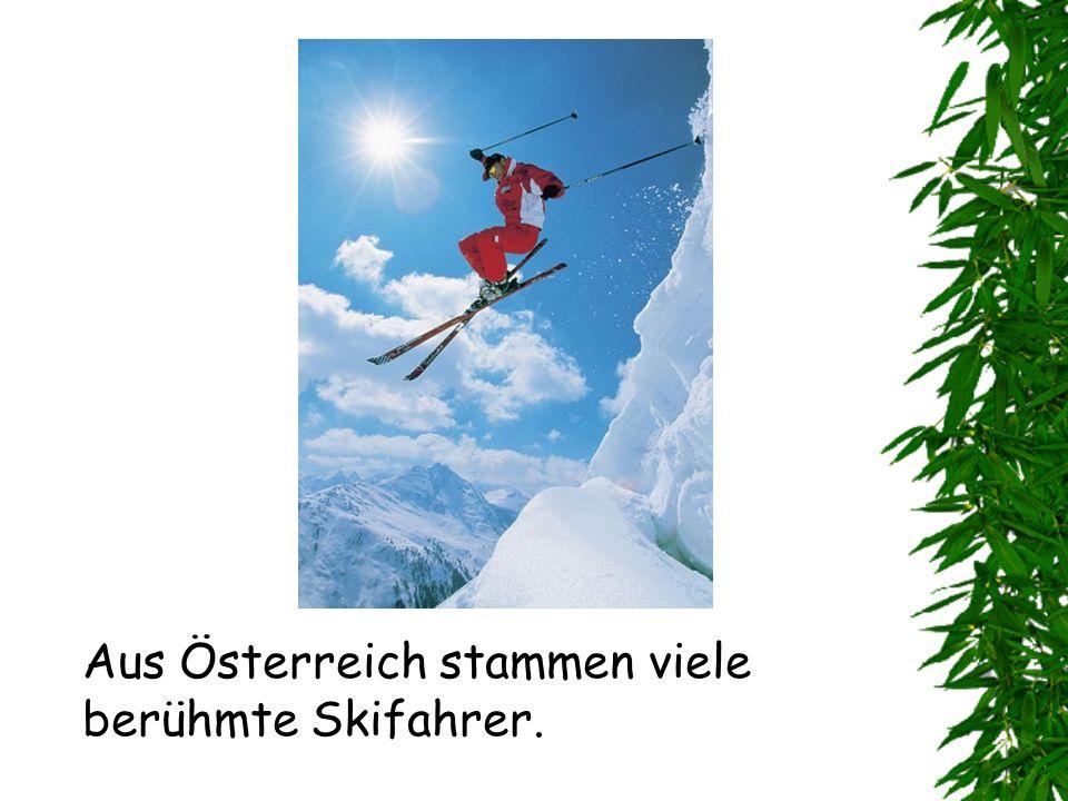 Aus Österreich stammen viele berühmte Skifahrer.