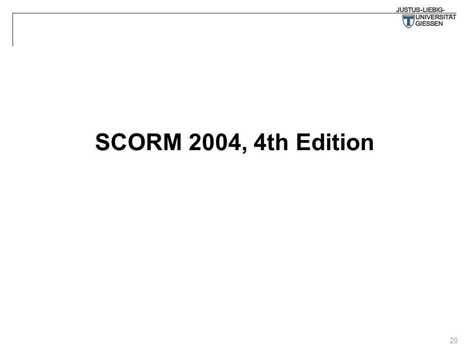 20 SCORM 2004, 4th Edition