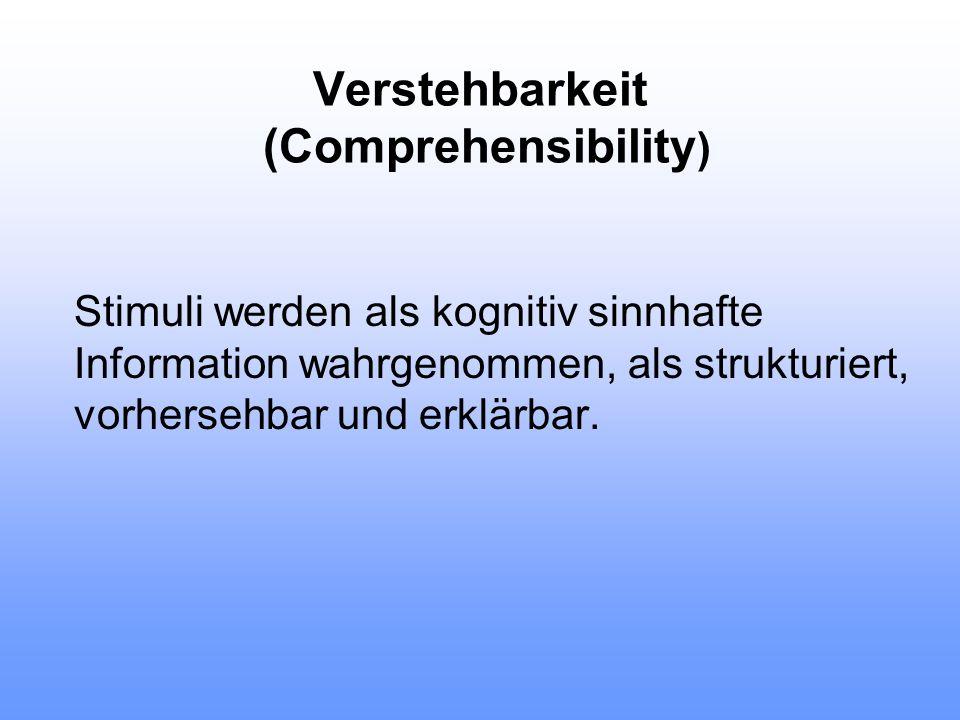 """Handhabbarkeit ( Manageability ) kennzeichnet die Verfügbarkeit geeigneter Ressourcen - sowohl eigener als auch derjenigen von """"legitimierten anderen -"""