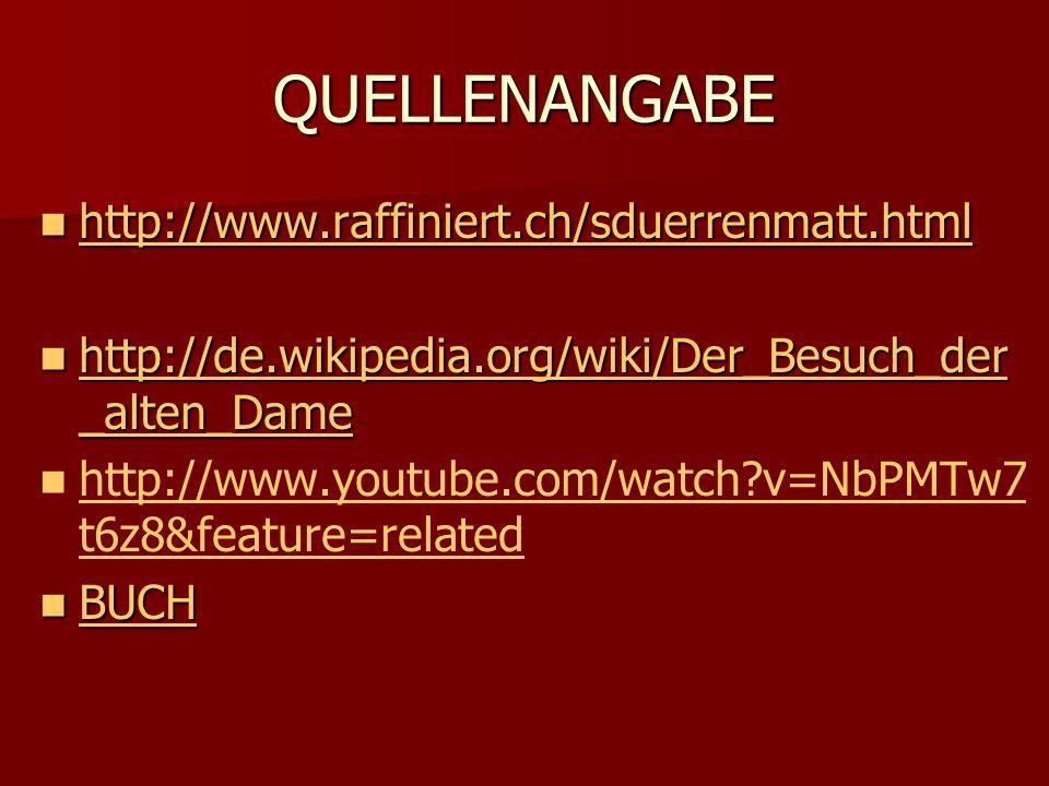 QUELLENANGABE http://www.raffiniert.ch/sduerrenmatt.html http://www.raffiniert.ch/sduerrenmatt.html http://www.raffiniert.ch/sduerrenmatt.html http://