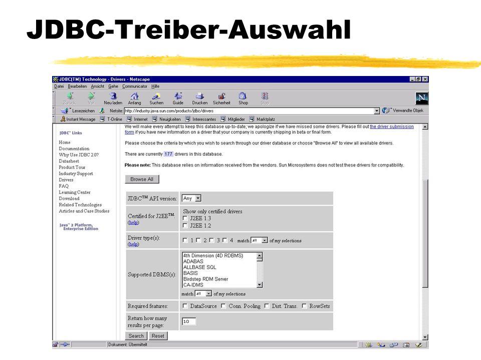 © 2005, Rudolf Jansen JDBC-Treiber-Auswahl