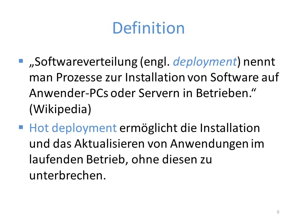 "Definition  ""Softwareverteilung (engl."