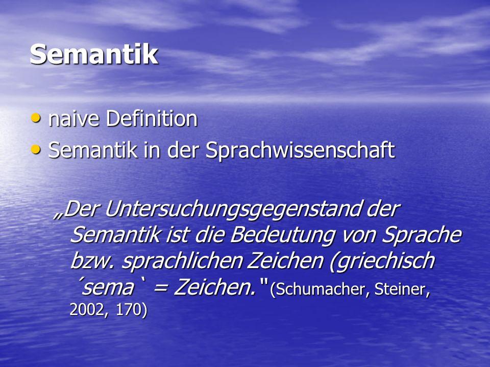 """Die Semantik (Bedeutungslehre, aus gr...."