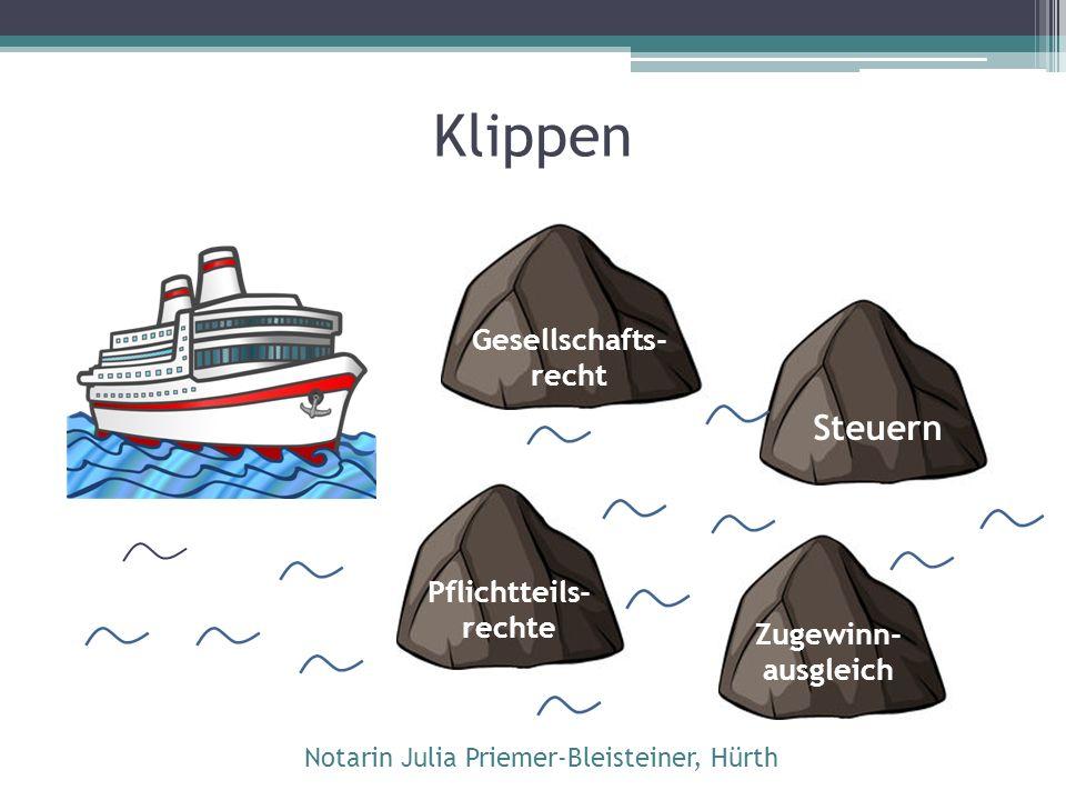 Klippe Gesellschaftsrecht: Rechtsform beachten.