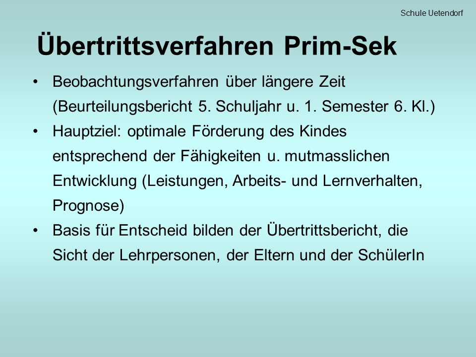 Schule Uetendorf Französisch mit Passepartout Beurteilung mit Noten.