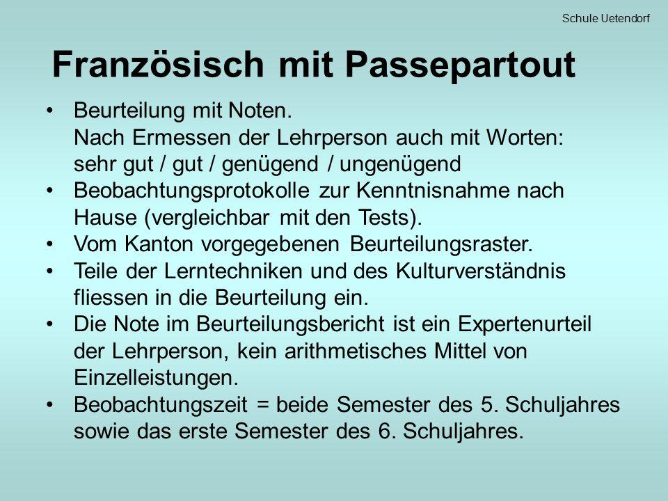 Schule Uetendorf Probesemester Das 1.Semester des 7.