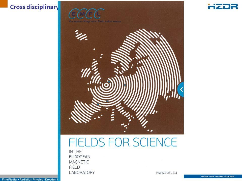Member of the Helmholtz Association Fine Fiedler Radiation Physics Dresden-Rossendorf Cross disciplinary application - Leaflet