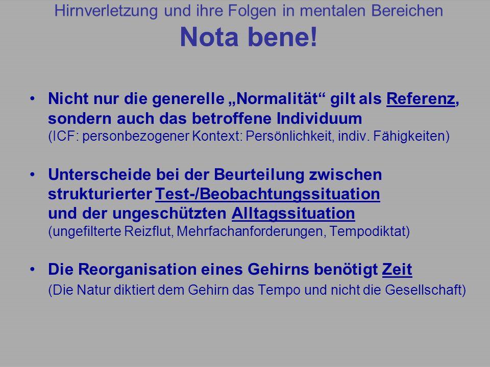 """Nicht nur die generelle """"Normalität"""" gilt als Referenz, sondern auch das betroffene Individuum (ICF: personbezogener Kontext: Persönlichkeit, indiv. F"""