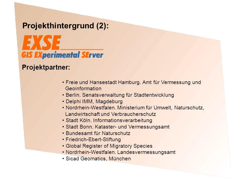 Projekthintergrund (2): Freie und Hansestadt Hamburg. Amt für Vermessung und Geoinformation Berlin. Senatsverwaltung für Stadtentwicklung Delphi IMM,
