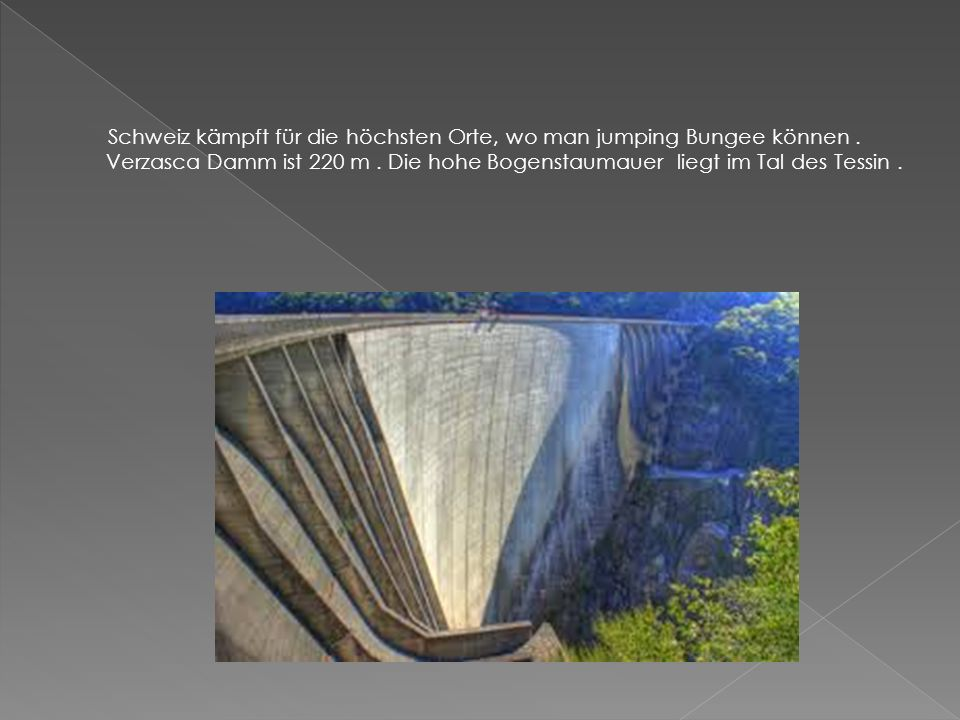 Schweiz kämpft für die höchsten Orte, wo man jumping Bungee können.