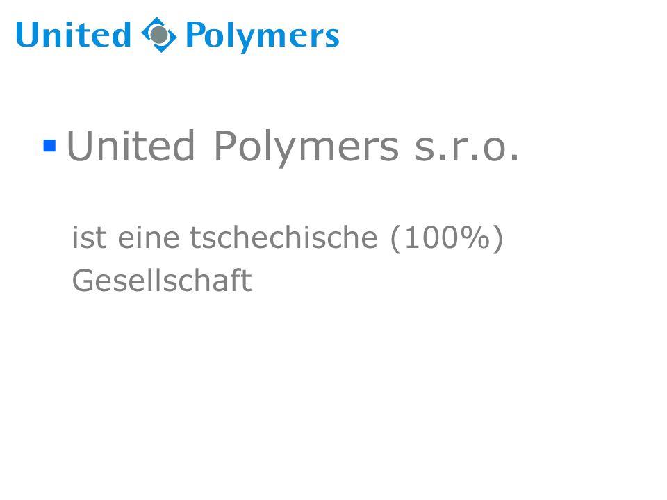  United Polymers s.r.o. ist eine tschechische (100%) Gesellschaft